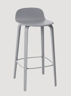 Muuto Visu Bar Stool  Grey lacquered ash L 399Euro / 345Pounds Two heights: 78.5cm (seat height: 65cm) and 88.5cm (seat height: 75cm)