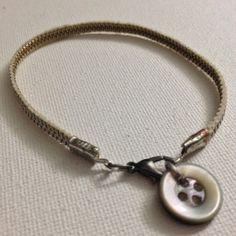 Zipper bracelet w/ button