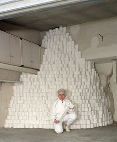 Granny always was afraid of running out of toilet paper. Grandpa never understood it, but she was not one to be questioned.