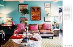 turquoise walls