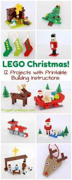 Christmas projects to build with LEGO® bricks - Printable Building Guide - . - Christmas projects to build with LEGO® bricks – Printable Building Guide – build - Lego Activities, Christmas Activities, Christmas Printables, Christmas Projects For Kids, Legos, All Things Christmas, Christmas Holidays, Frugal Christmas, Christmas Tables