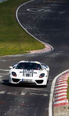 Porsche 918 Spyder Martini Racing Livery on #TheGreenHell Nürburgring Race Track, Germany. More Images On The Following Link: https://www.carspecwall.com/porsche/918-spyder/918-spyder-2013/ #Porsche918Spyder #Hypercar