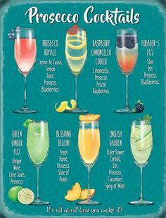 Prosecco Cocktails, Cocktail Drinks, Champagne Drinks, Lemonade Cocktail, Paloma Cocktail, Easy Cocktails, Pink Lemonade, Limoncello Drinks, French 75 Cocktail