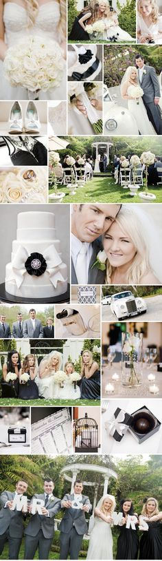 Elegant wedding with a timeless, classic feel with a stunning black and white colour theme.  As seen in New Zealand Bride & Groom magazine, issue 75   www.brideandgroom.co.nz