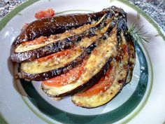Berenjenas al horno con tomate y mozzarella - Melanzane al forno con pomodoro e mozzarella - Baked aubergine tomato and mozzarella recipe