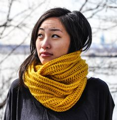 Lily Crochet Cowl, Yellow Infinity Scarf, Crochet Cowl, Womens Cowl, Mens Cowl, Mustard Yellow Scarf on Etsy, $40.00