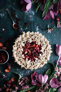 *This Triple Berry Pie is free of White Sugars, White Flours, & Cornstarch.