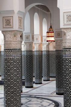Mosaicos geométricos en La Mamounia, Marrakech, Marruecos. | Matemolivares