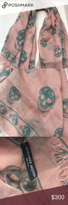 Alexander McQueen Skull Scarf Gorgeous & never worn before!!                                                Great to dress up or down, very soft material.                         100% authentic. Alexander McQueen Accessories Scarves & Wraps