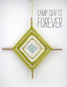 A simple God's Eye DIY on Smile and Wave. #godseye #craft #camp