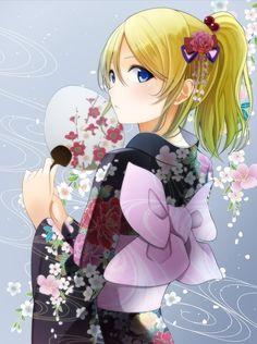 Eli Ayase, Love Live!, kimono or Yukata?
