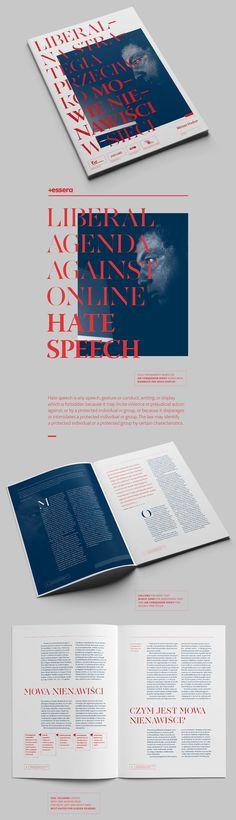 liberal agenda against online hate speech (brochure) on Editorial Design Served Graphic Design Magazine, Magazine Layout Design, Book Design Layout, Print Layout, Editorial Design, Editorial Layout, Graphisches Design, Logo Design, Branding Design