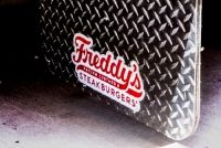 Freddys frozen custard and steakburgers cruising kitchens custom food truck builder mobile kitchen lounge bar retail shipping container corporate marketing vehicle for sale discovery channel blue collar Freddy's Frozen Custard, Custom Food Trucks, Mobile Food Trucks, Discovery Channel, Cars For Sale, Vehicle, Kitchens, Container, Retail