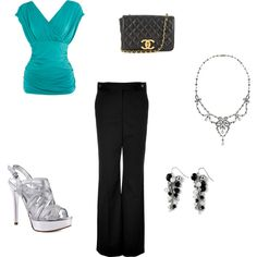 This would be a cute outfit for buisness wear, just not the purse