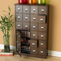 card catalog dvd storage