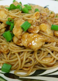 CPK's Kung Pao Chicken Spaghetti - SO delicious. Tastes just like it did in the restaurant.