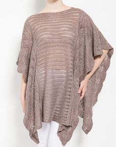 Cozy Knit Poncho – Sweater Weather Co.