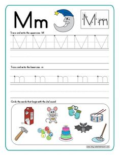 Great way to learn and practice letter formation. Place inside a dry erase pocket and use over and over again!