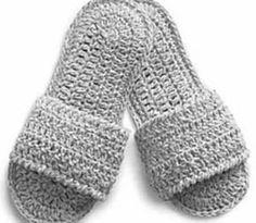#Crochet Spa Slippers.