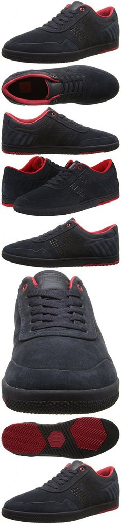 best loved 4564c 09f7f HUF Men s 2 Athletic Shoe, Dark Navy Tango Red, 8 M US