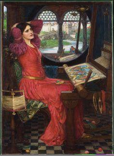 John William Waterhouse - I am half-sick of shadows, said the lady of shalott - The Lady of Shalott - Wikipedia, the free encyclopedia