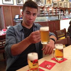 We've decided that Austria's Stiegl beer is superior to Prague's beer! Beer Tasting, Mugs, Pictures, Products, Circle Of Friends, Photos, Tumblers, Mug, Grimm