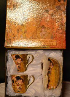Gustav Klimt Espressotassen Der Kuss 6teilig Beige, Porzellan Gustav Klimt, Collection, Atelier, China China, Kiss, Gifts