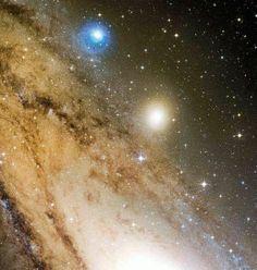 Andromeda Galaxy as seen from the Mauna Kea telescope, Hawaii