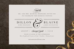 """Formal ampersand"" - Elegant, Classical Wedding Invitations in Blush by Jennifer Wick."