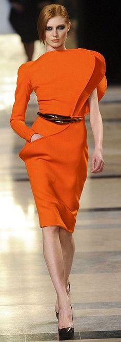 Orange Crush, Happy Colors, Our Girl, Pantone Color, Orange Color, Colour, Winter, Peplum Dress, Chic