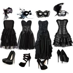Black Masquerade Masks and Costumes For any Halloween Party