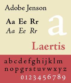 Adobe Jenson (Slimbach 1996) / Venetian oldstyle textcut by Nicolas Jenson 1470