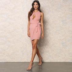 New Autumn Summer Fashion Sexy Halter Neck Dress Hanging Tight Hollow Dew Shoulder Bag Hip Party Club Sheath Dresses 1107
