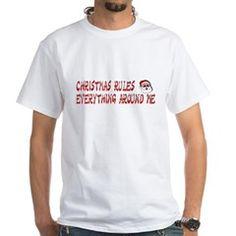 christmasCREAM mens white t-shirt [says: christmas rules everything around me] > $18.49US > babybitbyte (cafepress.com/babybitbyte) #babybitbyte #cafepress #nerd #geek #rap #hiphop #christmas #xmas #holiday #hohoho #santa #humor #lol #wutangclan #wutang #wu #odb #rza #cashruleseverythingaroundme #CREAM