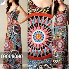 "Spotted while shopping on Poshmark: ""🌞🌺HOST PICK! 3/16🌺 VINTAGE PRINT BOHO MAXI!""! #poshmark #fashion #shopping #style #Chelsea Verde #Dresses & Skirts"