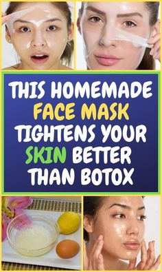 Looking younger doesn't have to be costly any longer. Botox is also a costly solution and we undoubtedly don't recommend it. This DIY Face Mask Natural Facial, Natural Skin, Natural Face Masks, Natural Beauty, Homemade Face Masks, Diy Face Mask, Beauty Care, Beauty Skin, Beauty Tips