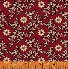 Red Daisy Civil War Reproduction Quilting by PrimitiveQuilting, $10.50