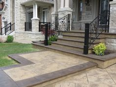 Stamped Concrete Steps 5 (Patio Step Pools)