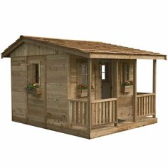 7' x 9' Cozy Cabin Cedar Playhouse | Walmart.ca