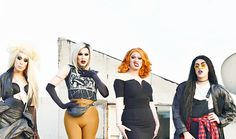 Alaska Thunderfuck, Sharon Needles, Jinkx Monsoon and Adore Delano