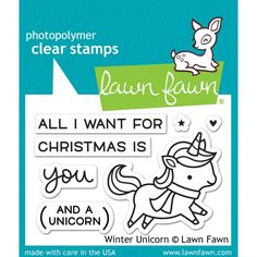 Lawn Fawn - Rubber Stamps - Winter Unicorn - The Rubber Buggy