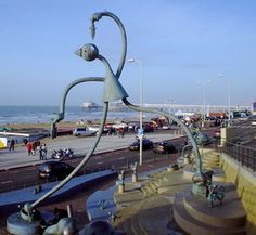 "Beelden aan Zee, translated ""Sculptures by the Sea"" in The Hague, Netherlands. American sculptor Tom Otterness installed ""Fairytale Sculptures by the Sea"""
