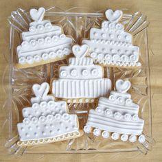 wedding cookie gallery   Wedding Cake Cookies — Cookies!