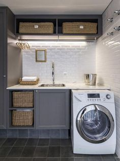 Small laundry room design is about creating functional spaces where chores do not get procrastinated but get done quickly and efficiently