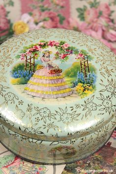 Vintage Home - 1940s Crinoline Lady Cake Tin: www.vintage-home.co.uk