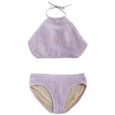 Crochet Halter Bikini Set ($69) ❤ liked on Polyvore featuring swimwear, bikinis, swimsuits, swim, crochet halter top, halter swim top, halter swimsuit, swimsuit swimwear and crochet swimsuit