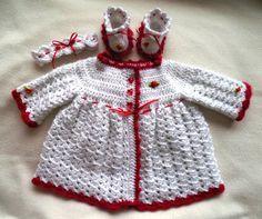 crochet baby jacket crochet baby coat by TillieLuvsTreasures