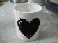 Pixelated Heart Mug