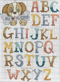 15 Best Fun Perler Beads Designs Easy To Get Started Cross Stitch Letters, Cross Stitch For Kids, Cross Stitch Boards, Cross Stitch Baby, Cross Stitch Samplers, Cross Stitching, Cross Stitch Embroidery, Embroidery Alphabet, Embroidery Fonts