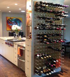 kitchen wine display wall